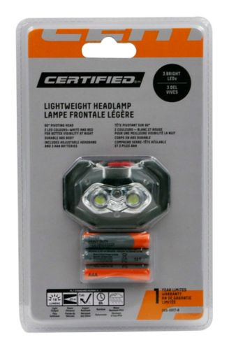 Certified Lightweight 3 LED Pivot Headlamp