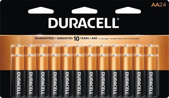 Piles alcalines AA Duracell Copper Top, paq. 24 Image de l'article