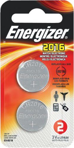Piles bouton au lithium de 3 V Energizer, 2016, paq. 2 Image de l'article