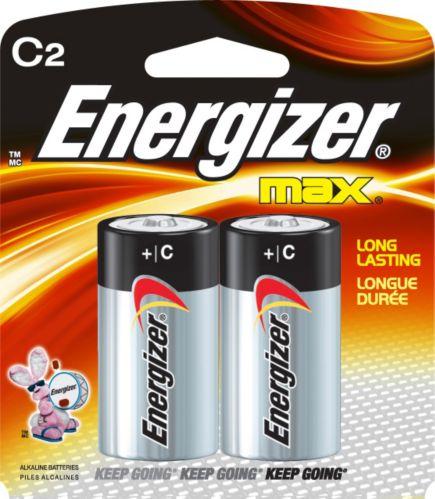 Energizer Max Alkaline C Batteries, 2-pk Product image