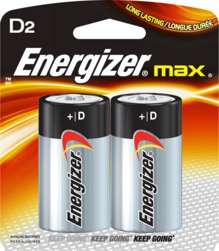 Piles alcalines Energizer Max D, paq. 2 Image de l'article