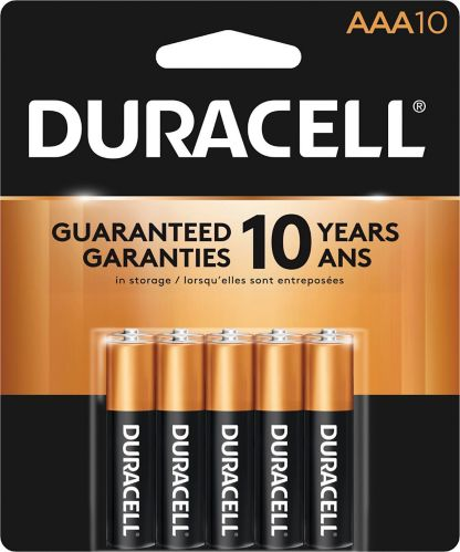 Duracell Copper Top Alkaline AAA Batteries, 10-pk Product image