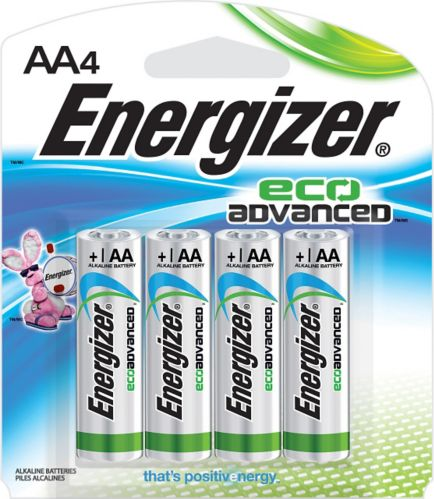 Energizer Eco Advanced Alkaline AA Batteries, 4-pack