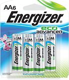 Energizer Eco Advanced Alkaline AA Batteries, 6-pack | Energizernull