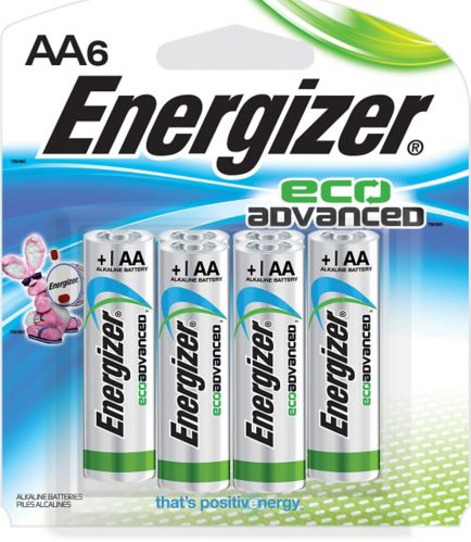 Energizer Eco Advanced Alkaline AA Batteries, 6-pack