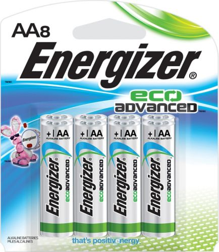 Energizer Eco Advanced Alkaline AA Batteries, 8-pack
