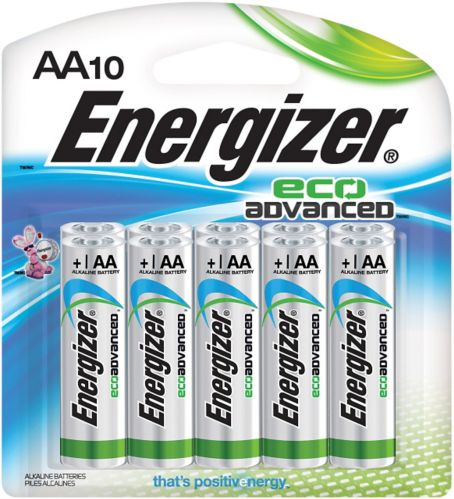 Energizer Eco Advanced Alkaline AA Batteries, 10-pack