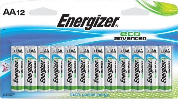 Energizer Eco Advanced Alkaline AA Batteries, 12-pack Product image