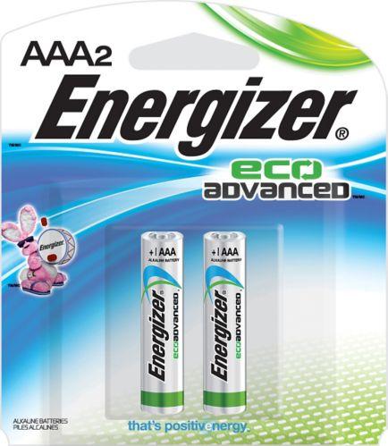 Energizer Eco Advanced Alkaline AAA Batteries, 2-pack