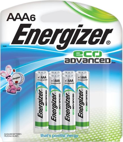 Energizer Eco Advanced Alkaline AAA Batteries, 6-pack