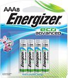 Piles alcalines AAA Energizer EcoAdvanced, paq.8 | Energizernull