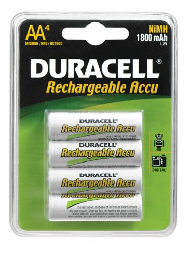 Duracell Accu NiMh AA Battery, 4-pk Product image