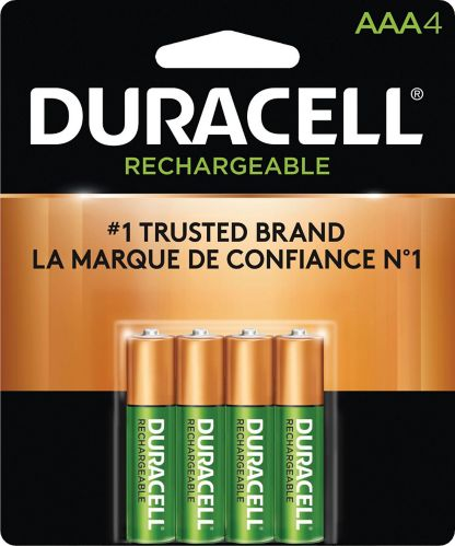Duracell Pre-charged Rechargeable AAA Batteries, 4-pk