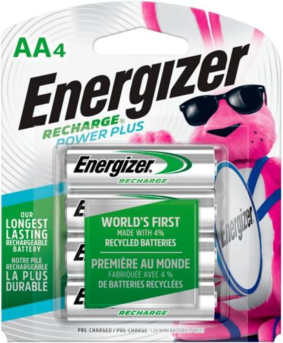 Energizer NiMH Rechargeable AA Batteries, 4-pk