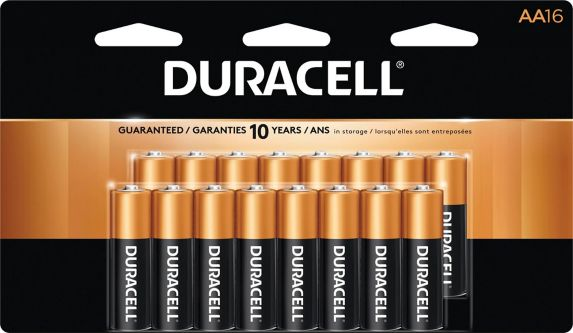 Duracell Copper Top Alkaline AA Batteries, 16-pk