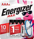 Energizer Max Alkaline AAA Batteries, 4-pk | Energizernull