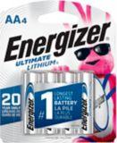 Piles AA au lithium Energizer Ultimate, paq. 4 | Energizernull