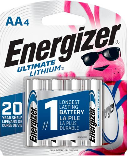 Energizer Ultimate Lithium AA Batteries, 4-pk Product image