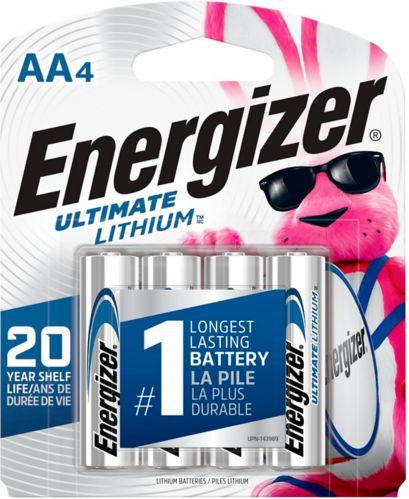 Piles AA au lithium Energizer Ultimate, paq. 4 Image de l'article