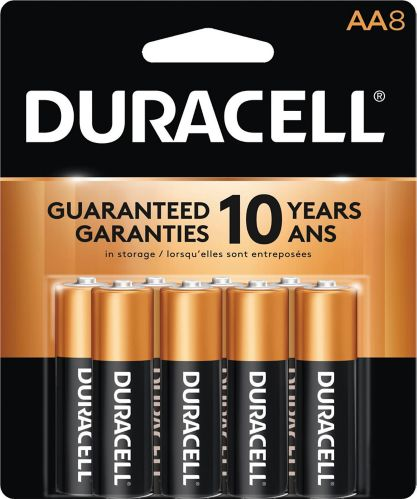 Duracell Copper Top Alkaline AA Batteries, 8-pk