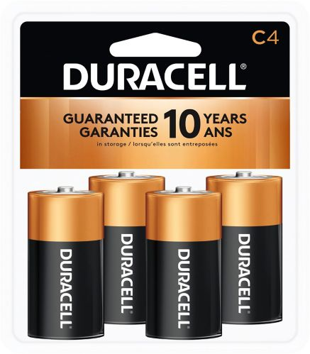 Duracell Copper Top Alkaline Batteries, C, 4-pk Product image