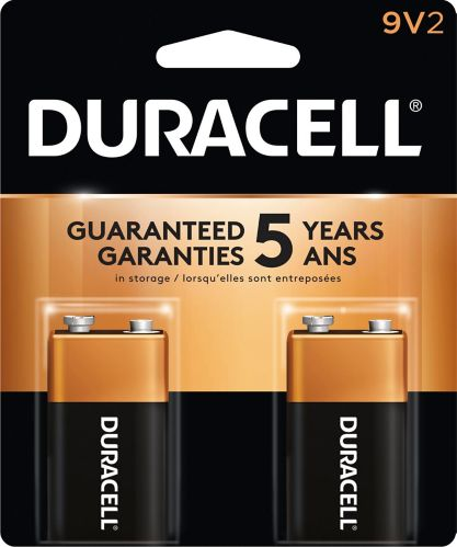 Piles 9 V alcalines Duracell Copper Top, paq. 2