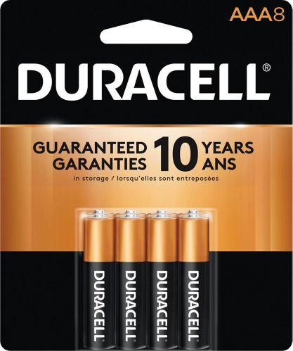 Duracell Copper Top Alkaline AAA Batteries, 8-pk