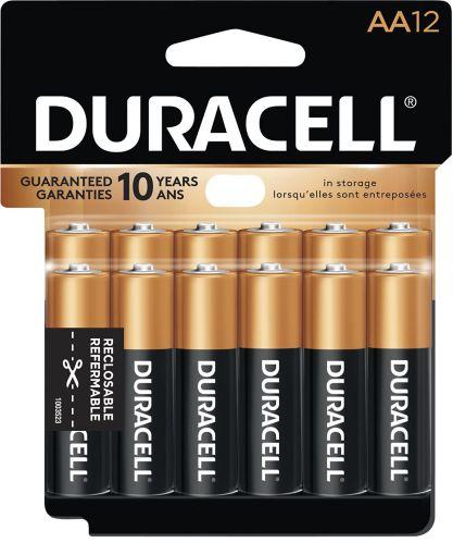 Piles alcalines AA Duracell Copper Top, paq. 12 Image de l'article