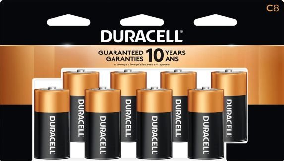 Duracell Copper Top Alkaline C Batteries, 8-pk Product image