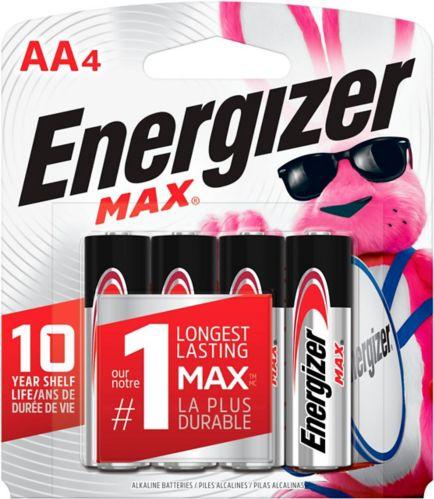 Piles alcalines Energizer Max AA, paq. 4 Image de l'article
