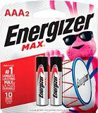 Energizer Max Alkaline AAA Batteries, 2-pk | Energizernull