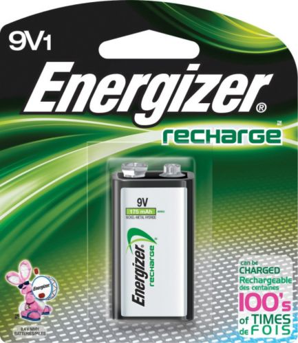 Energizer NiMH Rechargeable 9V Battery