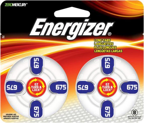 Energizer Hearing Aid Batteries, 675, 8-pk