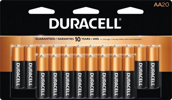 Piles alcalines AA Duracell Copper Top, paq. 20 Image de l'article