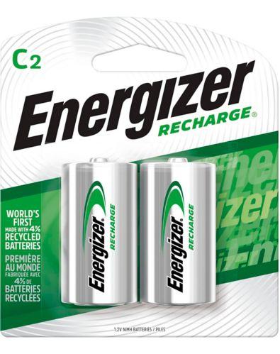 Energizer NiMH Rechargeable C Batteries, 2-pk Product image