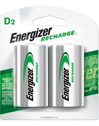 Energizer NiMH Rechargeable D Batteries, 2-pk Product image