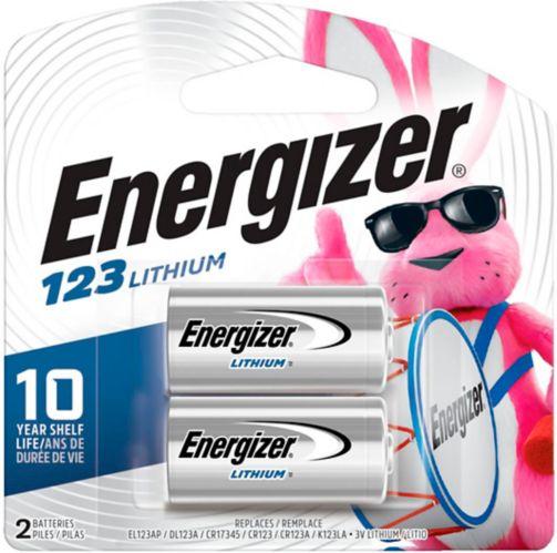 Energizer 123 Lithium Photo 3V Batteries, 2-pk Product image