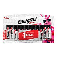 Piles alcalines Energizer Max AA, paq. 20
