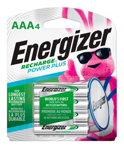 Energizer NiMH Rechargeable AAA Batteries, 4-pk Product image