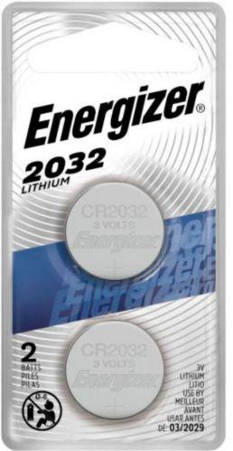 Pile bouton au lithium de 3 V Energizer, 2032, paq. 2
