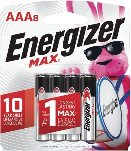 Piles alcalines Energizer Max AAA, paq. 8