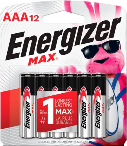Piles alcalines Energizer Max AAA, paq. 12 Image de l'article