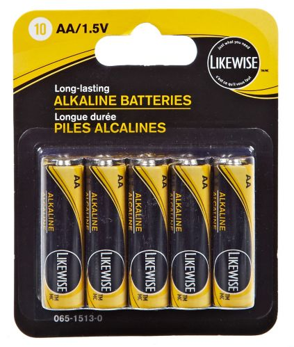 Likewise Alkaline AA Batteries, 10-pk Product image