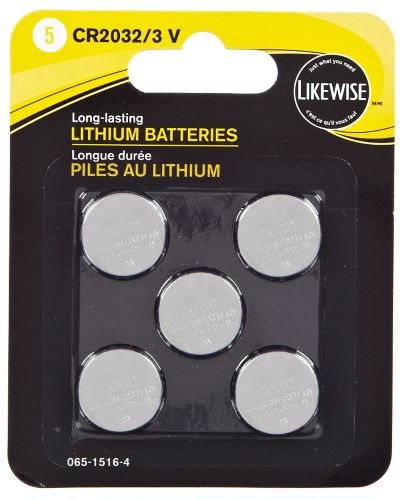 Likewise Lithium 3V Batteries, 2032, 5-pk Product image