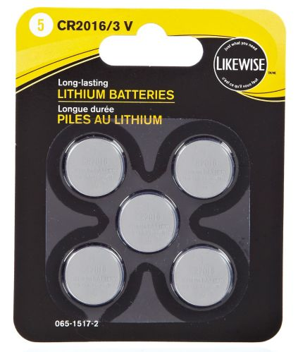 Likewise Lithium 3V Batteries, 2016, 5-pk Product image