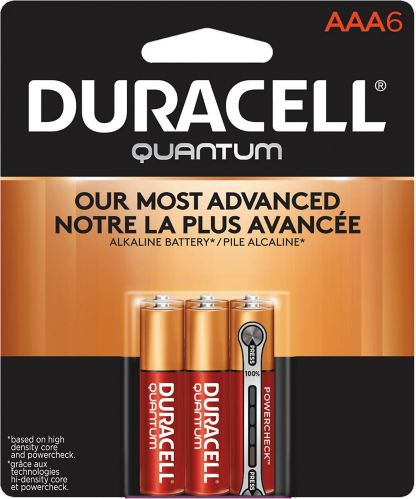 Piles AAA alcalines Duracell Quantum, paq. 6 Image de l'article