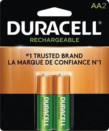 Piles AA rechargeables préchargées Duracell, paq. 2