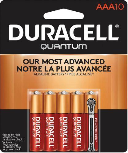 Duracell Quantum Alkaline AAA Batteries, 10-pk