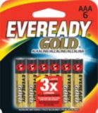 Piles AAA alcalines Eveready Gold, paq. 6 | Evereadynull