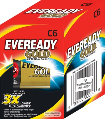 Eveready Gold Alkaline C Batteries, 6-pk Product image